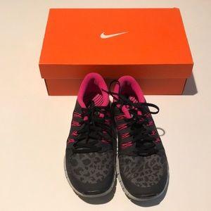 Nike Women's Free 5.0+ Dark Gray Pink Size 8